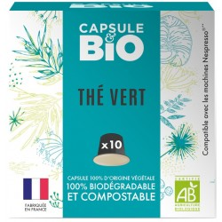 Bio Green tea capsules compatible Nespresso ®