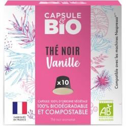 Capsules bio de Thé noir Vanille Bio compatibles Nespresso ®