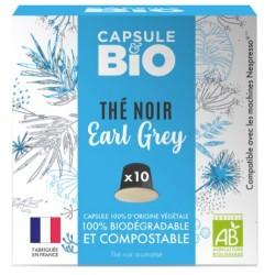 Capsules bio de Thé noir Earl Grey Bio compatibles Nespresso ®