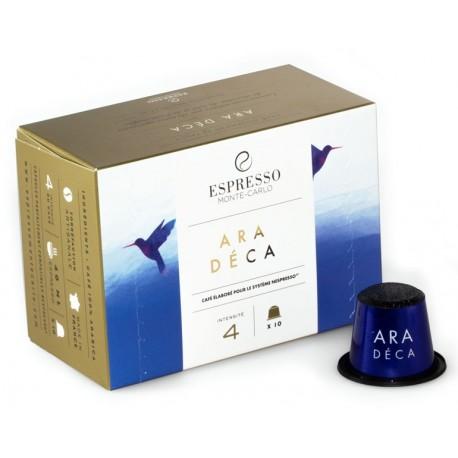 Capsules compatibles Nespresso ® Ara Déca