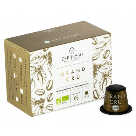 Compatible capsules Nespresso ® Grand Cru Bio