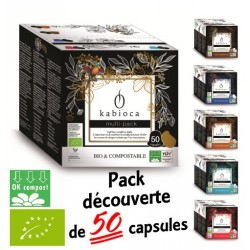 50 Capsules Kabioca compatibles Nespresso ® Multi pack