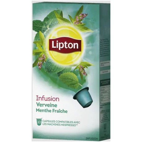 Capsules Infusion Réglisse Menthe Lipton compatibles Nespresso ®