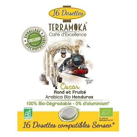 Oscar dosettes compatibles Senseo ® Terramoka café bio