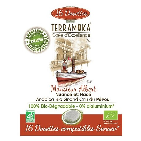 Monsieur Albert dosettes compatibles Senseo ® Terramoka