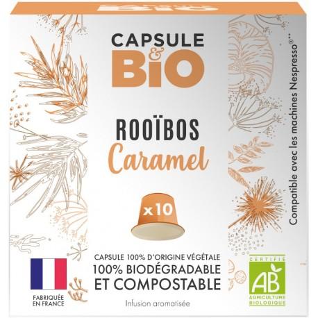 Rooibos organic flavored caramel capsules Nespresso ®