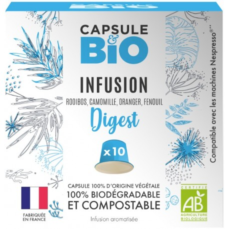 Capsules Infusion Dig&st compatibles Nespresso ®