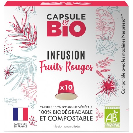 Nespresso ® compatible red fruit infusion capsules
