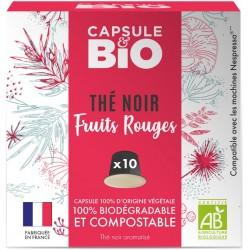 Capsules bio de Thé Noir Fruits Rouges Bio compatibles Nespresso ®