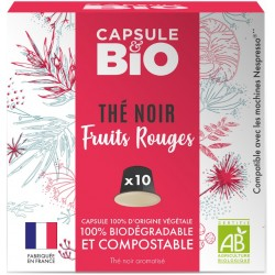 Organic Black Tea Organic Red Fruits Nespresso ® Compatible Capsules