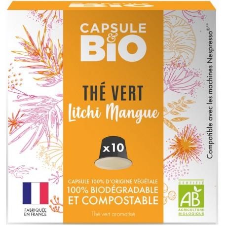 Organic Green Tea Litchi Organic Mango Nespresso ® compatible capsules