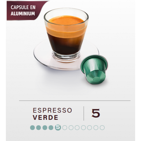 VERDE BIO, BELMIO capsules compatible Nespresso ®