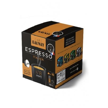 Capsules Italian Bio compatible Nespresso Café Launay