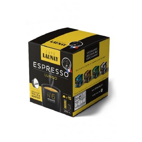 Capsules Lungo, compatibles Dolce Gusto ® de Café Launay