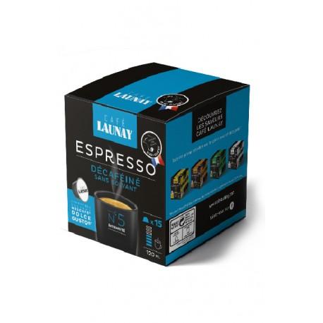 Capsules Déca, compatibles Dolce Gusto ® de Café Launay