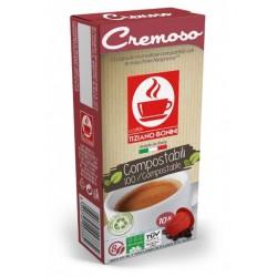 Capsules compatibles compostables Bonini Cremoso