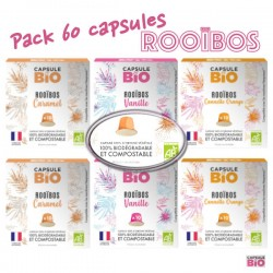 Pack 60 organic Rooibos capsules compatible Nespresso ®