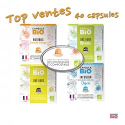 -5% sur Pack Top Vente de 40 capsules compatibles Nespresso ® de la marque Capsules & Bio