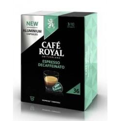 36 Capsules Café Royal Decaffeinato compatibles Nespresso ®