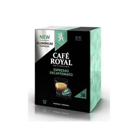 Capsules Café Royal Decaffeinato compatibles Nespresso ®