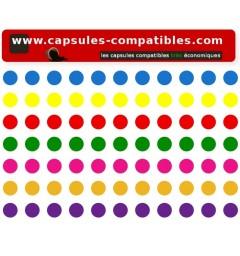 Gommettes pour capsules compatibles Nespresso