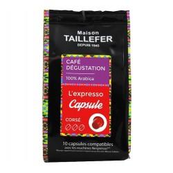 Capsules L'Expresso Italien compatibles Nespresso ® Maison TAILLEFER