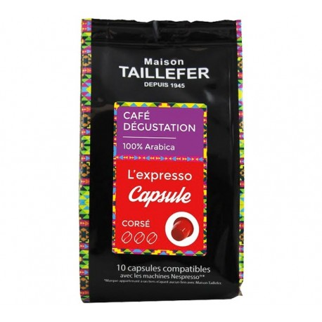 House TAILLEFER Expresso Nespresso compatible capsules