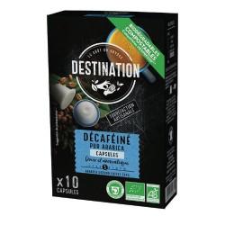 Capsules Biodégradables compatibles Nespresso ® Déca Bio Destination