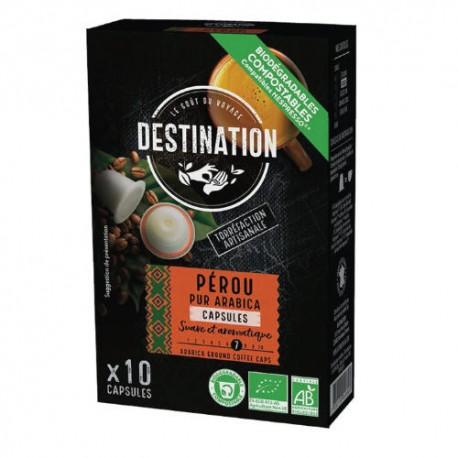 Capsules Biodégradables compatibles Nespresso ® Pérou de Destination