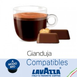 Lavazza A Modo Mio ® compatible Italian chocolate capsules with hazelnuts