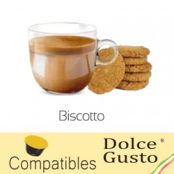 Capsules saveur Biscuit compatibles Dolce Gusto ® Biscotto