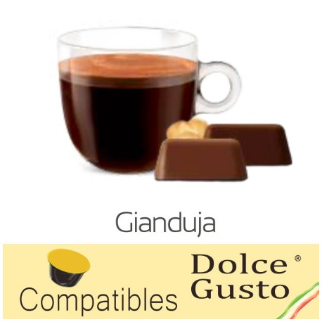 Dolce Gusto ® compatible Italian chocolate capsules with hazelnuts