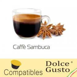 Star anise liquor flavoured Caffè Bonini, Dolce Gusto ® compatible pods.