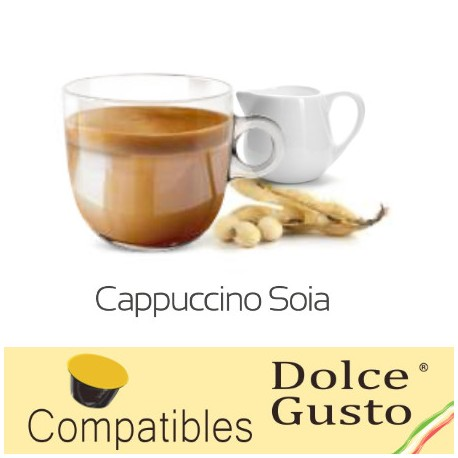 Dolce Gusto ® compatible soy milk cappuccino capsules