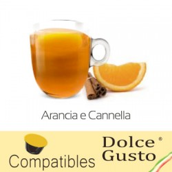Orange Cinnamon herbal tea compatible with Dolce Gusto ®