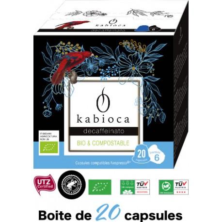 20 Capsules Déca Kabioca compatibles Nespresso ®
