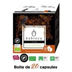 20 Capsules Lungo Kabioca compatibles Nespresso ®