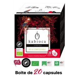20 Capsules Intenso Kabioca compatibles Nespresso ®