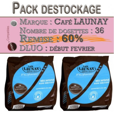 36 Dosettes Déca compatibles Senseo ® de Café Launay