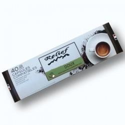 Capsules compatibles nespresso Relief doux livraison gratuite