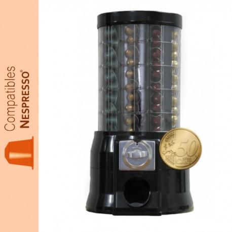 Distributeur capsules Nespresso monnayeur 0.50 €