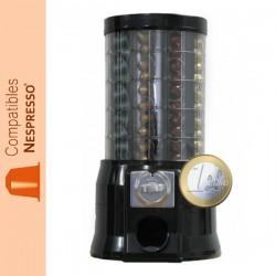 Distributeur automatique de capsules Nespresso ®, monnayeur pièce de 1€