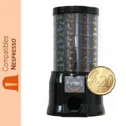Distributeur automatique de capsules Nespresso ®, monnayeur pièce de 0.20€