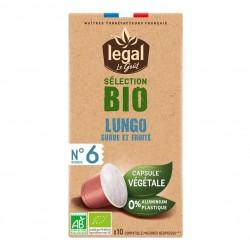 Capsules Café Legal Bio compatibles Nespresso ® Lungo