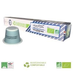 Capsules Déca Bio compatibles Nespresso ® de Capsulo
