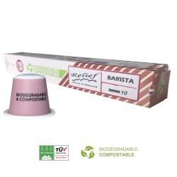 Capsules Biodégradables Barista compatibles Nespresso ® Relief