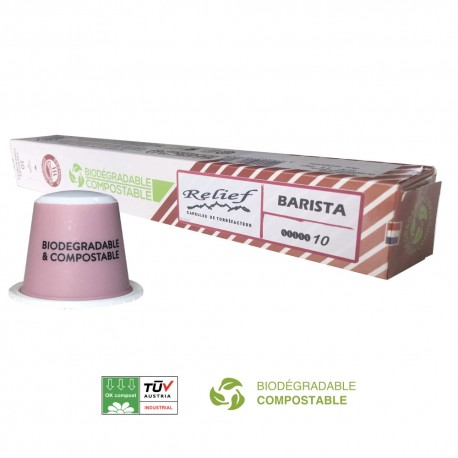 Biodegradable Honduras Bio capsules compatible with Nespresso ® Relief