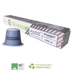 Capsules Biodégradables Gourmet compatibles Nespresso ® Relief