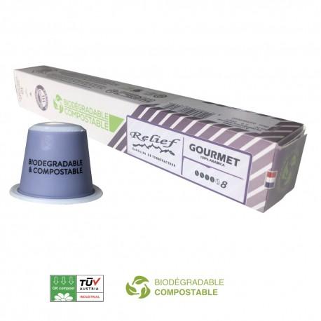 Biodegradable Barista capsules compatible with Nespresso ® Relief