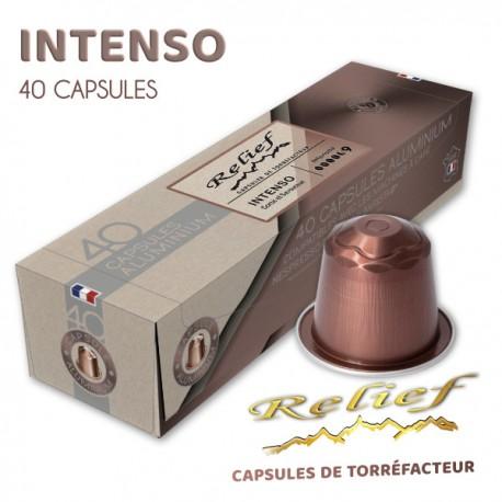 Capsules Nespresso Compatibles, Relief Corsé, livraison gratuite
